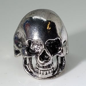 Other - Heavy Skull Silver Stainless Steel Ring